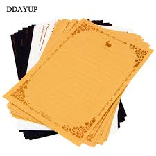 letter writing paper sets online get cheap letter writing paper aliexpress com alibaba group 8pcs pack vintage kraft writing paper european style retro journal writing paper pad note letter set