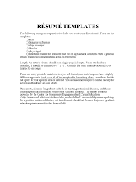 Acting Resume Template Word Free Acting Resume Sample Resume For Kids Resume Cv Cover Letter