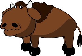 buffalo or american bison animal clipart cliparts and others art