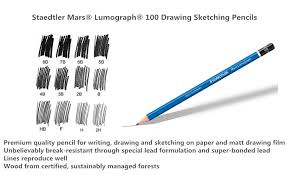 special pencils for drawing staedtler mars lumograph 100 drawing sketching pencils 123ink