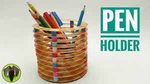 pen pencil holder diy tutorial by paper folds youtube