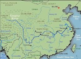 rivers in china map yangtze river rivers rivers