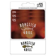 bonefish gift card bonefish grill 75 multi pack 3 25 giftcards sam s club