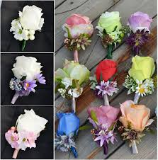 corsage and boutonniere prices 26 colors free shipping 2016 white purple pink groom corsage