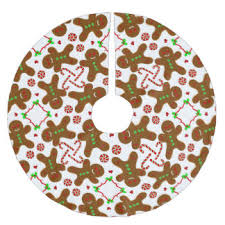 gingerbread christmas tree skirts zazzle