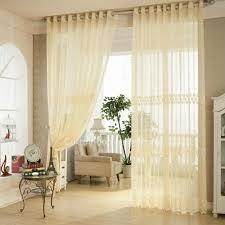beige net material elegant sheer curtain in jacquard craft for