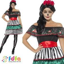 day of the dead senorita doll spanish uk 8 18 womens ladies fancy