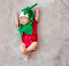 Strawberry Halloween Costume Baby Sew Diy Baby Strawberry Baby Costume Primary