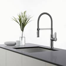 commercial kitchen faucets kraus kpf 1640ch chrome nola single lever flex commercial style