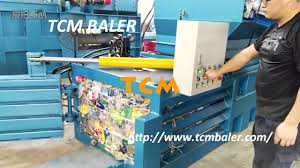 small waste paper plastic pet bottles baler compactor machine