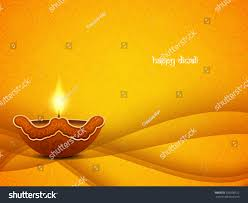 yellow color vector background design diwali stock vector