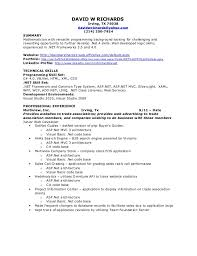 Resume In English Sample by Charming Inspiration Net Resume 9 Sample For Asp Developer Fresher