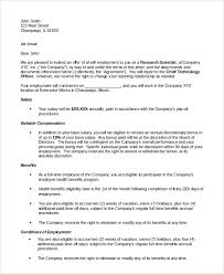 sample offer letter 10 examples in pdf word