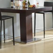 Pedestal Bar Table Bamboo Pub Table Foter