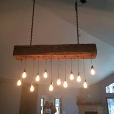 Hanging Edison Bulb Chandelier Finished Edison Chandelier Very Reclaimed And Industrial Light