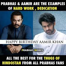 Aamir Khan Memes - prabhas memes