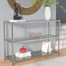 Glass Sofa Table Glass Console Sofa Tables You Ll Wayfair