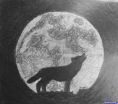 pencil drawings of wolves howling at the moon wolves howling at