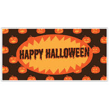 Happy Halloween Banners by Ghosty House Halloween Party Banner Backdrop Decoration Paper Blast