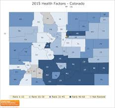 Colorado County Map by Colorado Rankings Data County Health Rankings U0026 Roadmaps