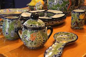 mexican u0026 spanish ceramic goods pots aluminum u0026 brass frames