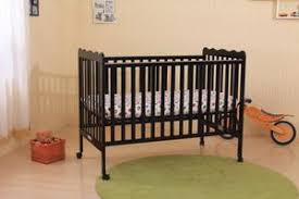 Crib Mattress Base Black Or Wood Portable Baby Crib With Mattress