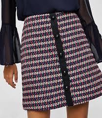 tweed skirt zip pocket tweed skirt loft