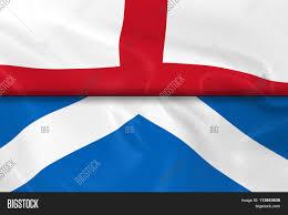 flags england scotland split half image u0026 photo bigstock