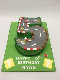 number 5 mario kart race track cake celebration cakes cakeology