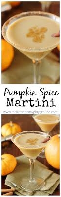 pumpkin spice martini my ride martinis beverage and