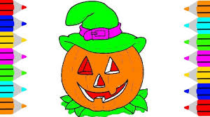 halloween pumpkin coloring book draw a pumpkin and color for kids