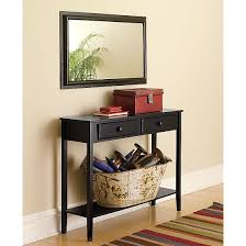 Accent Tables For Living Room by Furniture Decorative Brown Wooden Entryway Table With 6 Drawers