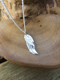 handmade angel necklace images Personalised angels wing solid silver dainty pendant necklace and jpg