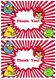 angry birds cards u2013 birthday printable