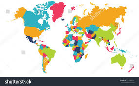South Africa World Map World Map Europe Asia North America Stock Illustration 471039782