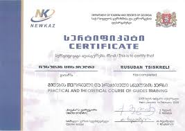tour guide training certificates highlander travel