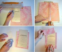 diy wedding menu cards diy menu and table place setting card