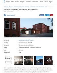 Haus D Archdaily Haus D Cba Clemens Bachmann Architekten München