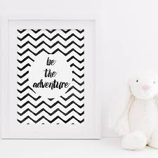 Be The Adventure Kids Room Art Print By Sweetlove Press - Prints for kids rooms