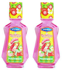 amazon strawberry shortcake strawberry shortcake bubble gum flavored mouthwash for kids pack