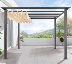 Awning Kits Diy Pergola Kit Canopy Included Retractable Canopy Pergolas
