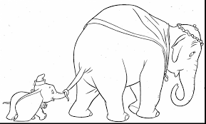 fantastic cartoon character drawing sketch dumbo coloring