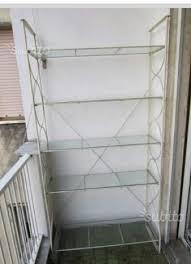 ikea scaffali metallo scaffale ikea metallo bianco e ripiani in vetro arredamento e