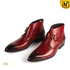 mens red italian leather boots cw763337