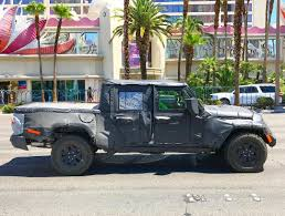 jeep wrangler pickup spotted testing first 2019 jeep scrambler pickup jt wrangler video testing with