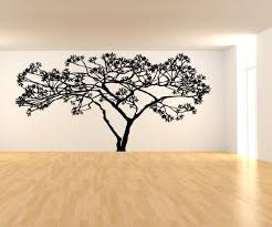 vinyl wall decal sticker wide tree ac156