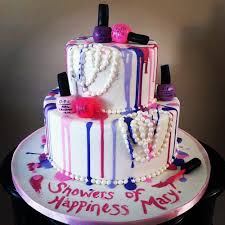 nail polish birthday cake ideas for women 7th birthday