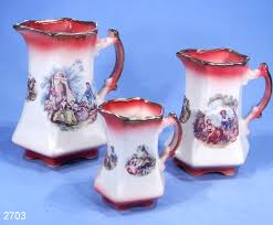 staffordshire ironstone country garden series jugs set of 3 u2013 sold