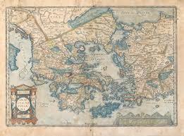 Asia Minor Map Graecia Sophiani Ortelius Greece Peloponnese Aegean Crete