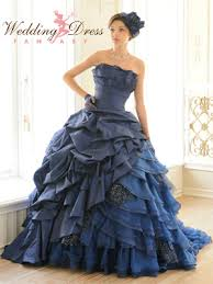 blue wedding dresses royal blue wedding dress